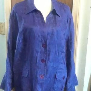 Jackets & Blazers - Jones Collection Purple Jacket, size 20